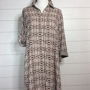 Colony Club Button Down Dress with Belt